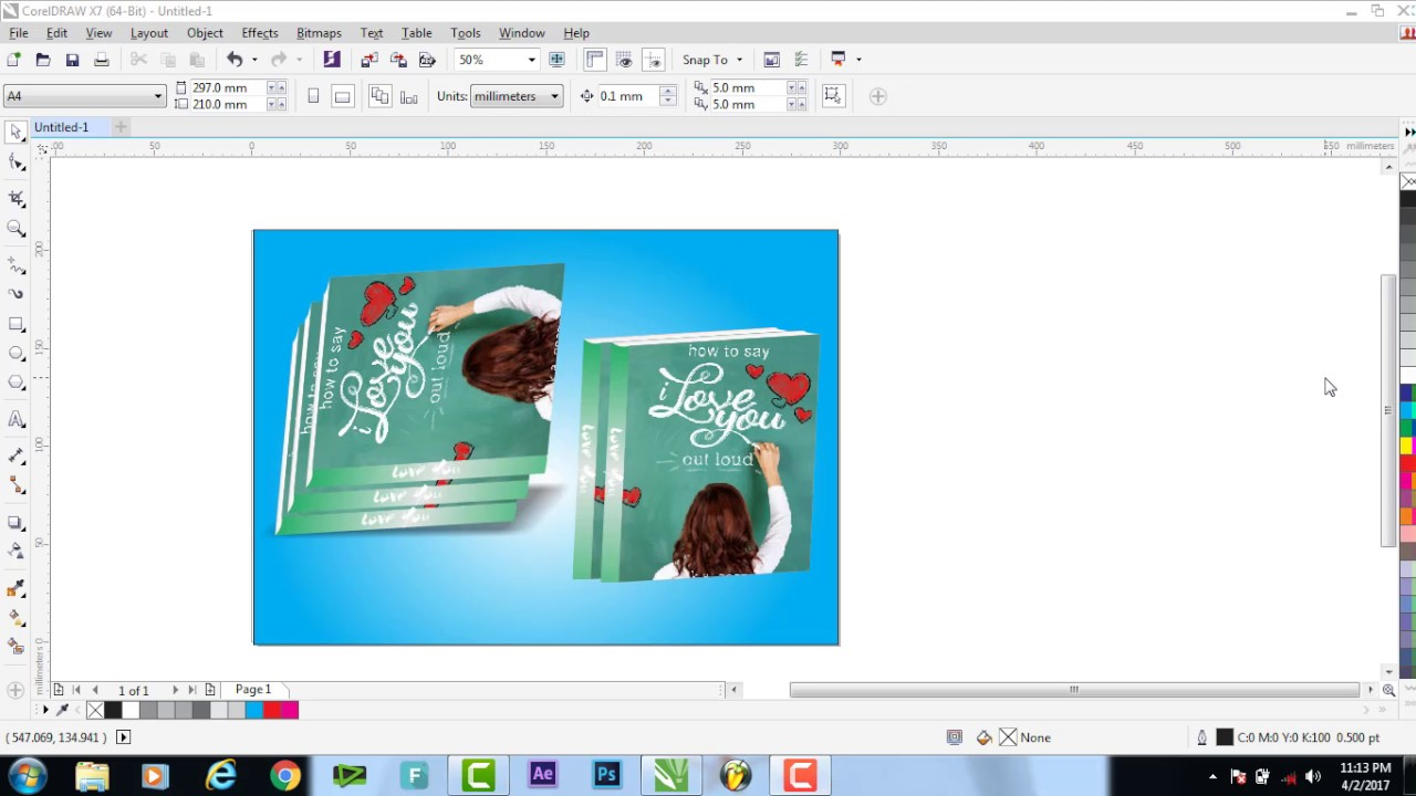 Corel Draw Book Cover Design Tutorial ~ How to design a book cover in corel draw hindi video