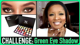 MAKEUP CHALLENGE: Green Eye shadow with the Morphe 35M Palette!!!