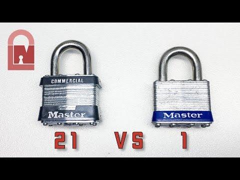 Master Lock 21 Commercial Vs Master Lock 1