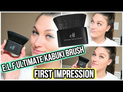 e.l.f Ultimate Kabuki Brush First Impression + Demo | ThatCLeigh