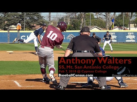 Anthony Walters, SS, Mt. San Antonio College