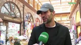Ömer Erdoğan alışveriş esnasında Bursaspor TV ile karşılaşıyor 🐊