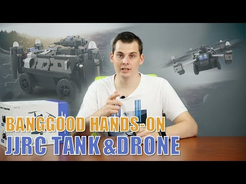 FPV QUADCOPTER TANK JJRC H40WH - flight test, drone review for hobby