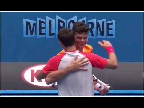 Grigor Dimitrov vs. Milos Raonic 6-3, 3-6, 6-4, 7-6(10) Australian Open (R32) 18.01.2014.
