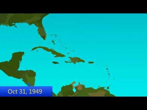 1949 Atlantic Hurricane Season Animation