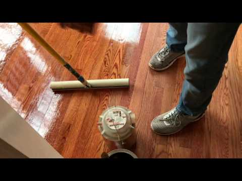 How to refinish hardwood floors part-3(applying 1st Coat)