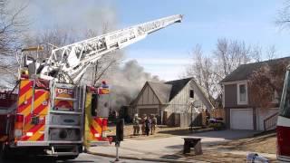 109th Street House Fire Overland Park, Kansas, 3-8-2015