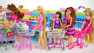 Кукла Барби Покупка продуктов Продуктовый магазин Кукла Барби Супермаркет