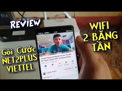 REVIEW Gói Cước NET2PLUS Internet Cáp Quang Viettel Miễn Phí Wifi 2 Băng Tần
