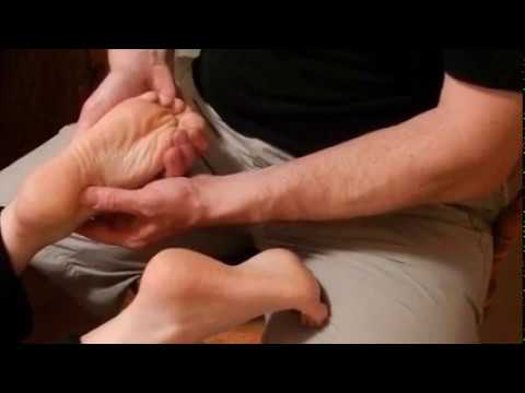 Foot massage to relieve stress