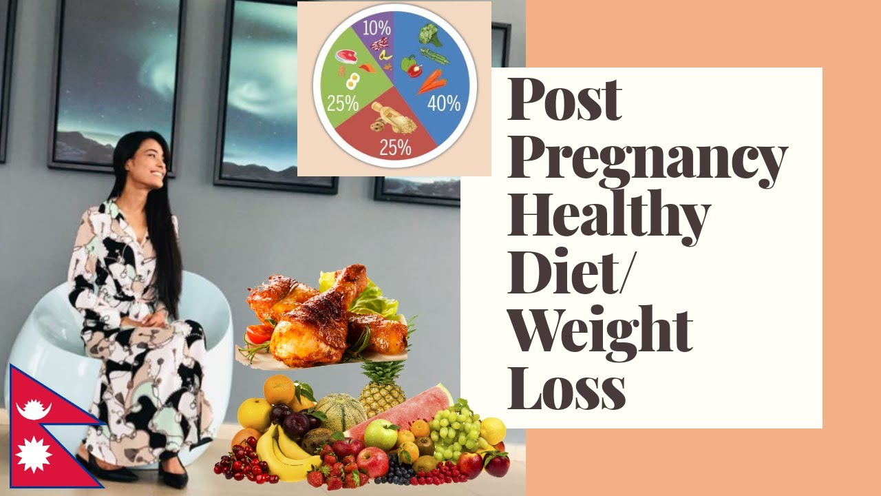 Post Pregnancy Healthy Diet Plan | Weight Loss Diet Chart | Mom's Quick Solutions