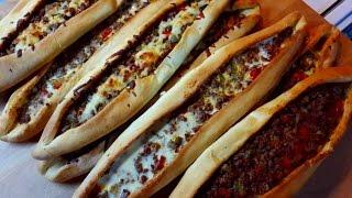 Turkish Pide Recipe (meat Stuffed Pizza Like Bread)