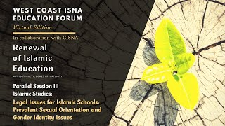 WCIEF - Legal Issues for Islamic schools: Prevalent sexual orientation and gender identity issues