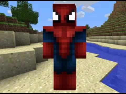 The Amazing Spiderman Minecraft Skin Free Download YouTube - Skins para minecraft pe de spiderman