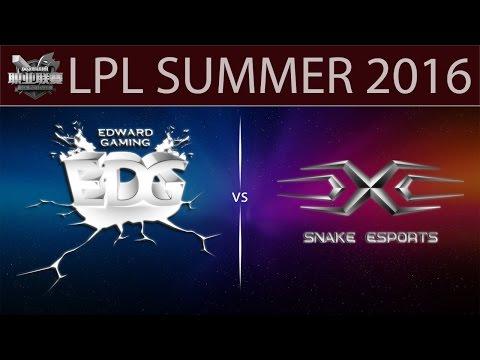 [LoL Highlights] EDG vs SS Game 2 | LPL Summer 2016 (28.05.2016) - EDward Gaming vs Snake eSports