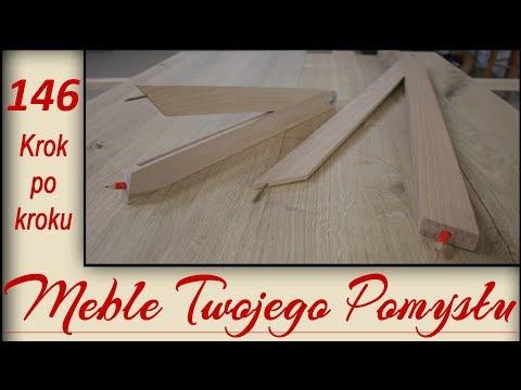 Jak zrobić drewniany cyrkiel z kątownika nastawnego