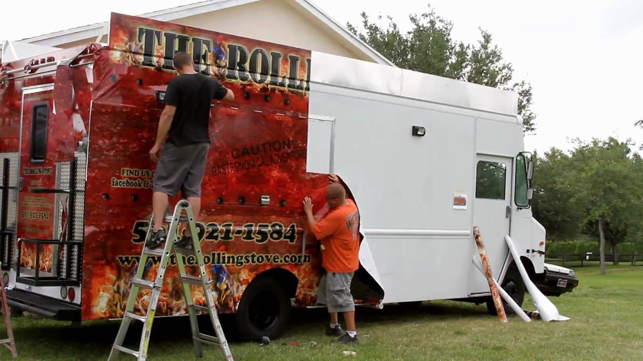 The Rolling Stove Food Truck Vehicle Wrap By Signs