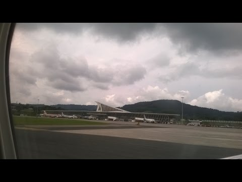 From hotel Ibis Bilbao Centro to Bilbao Airport (Gold Car Rental), Basque Country-SPAIN 2015