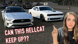 FINALLY Raced my Dad's Built Hellcat & A HUGE SURPRISE INSIDE