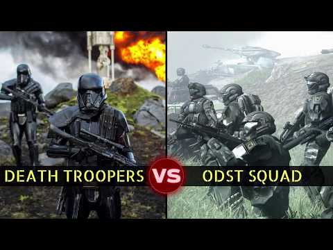ODSTs vs Death Troopers: 4-on-4 Squad Battle | Halo vs Star Wars: Who Would Win?