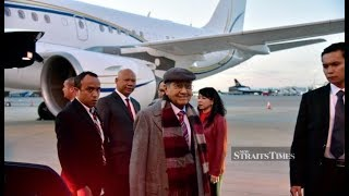 Dr Mahathir arrives in London for three-day working visit