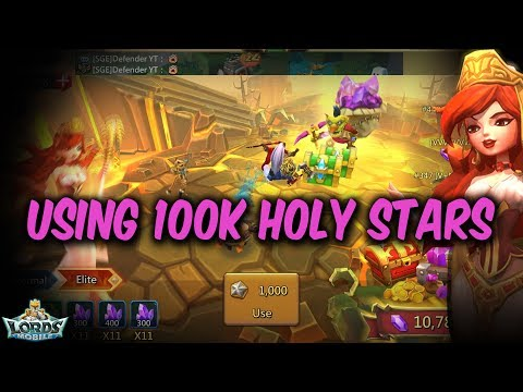 Using 100K Holy Stars - Lords Mobile