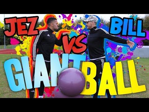 GIANT FOOTBALL PENALTY SHOOT OUT! | BILLY VS JEZZA