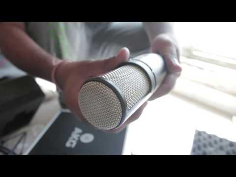 AKG P220   Vocals Recording Microphone   Unbox   HINDI VIDEO } GURU BHAI STUDIO