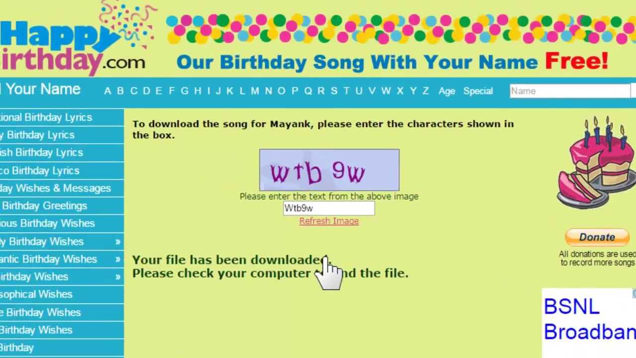 Birthday song for name | happy birthday song in hindi | download.