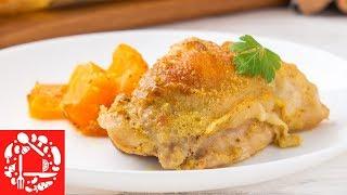 Вы даже не представляете, насколько это вкусно! 🎃🎃🎃 Куриные окорочка с тыквой