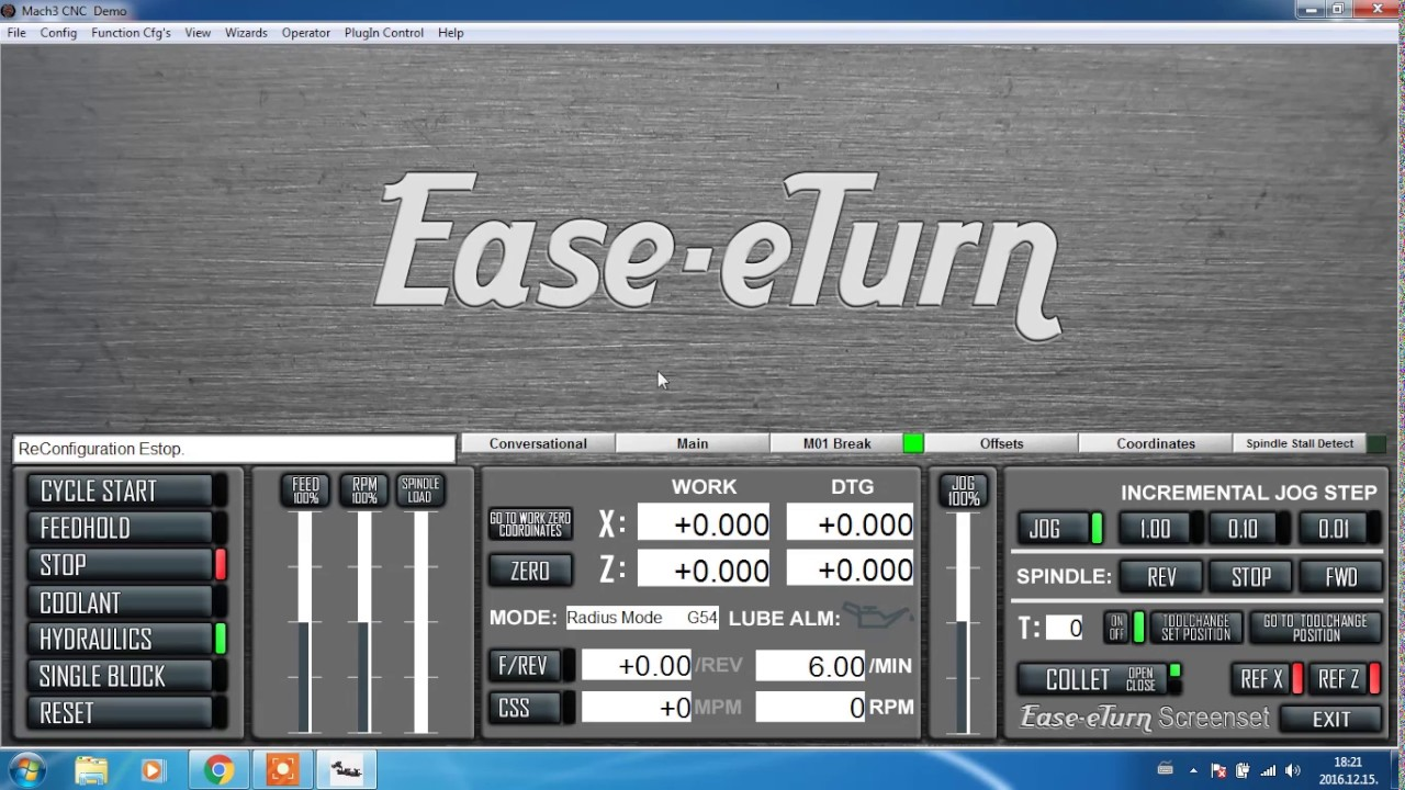 Ease-eTurn Mach3 Turn Screenset Installation