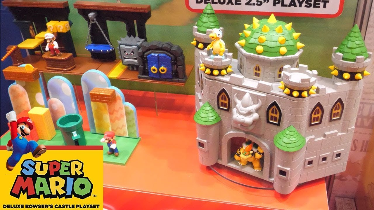 Super Mario Deluxe Bowser S Castle Playset Can You Save Princess Peach