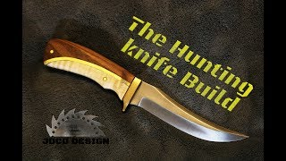 Hunting knife handle with brass inlay and wood! build how to