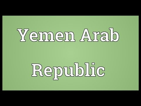 Yemen Arab Republic Meaning