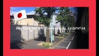 departure and afs japan arrival orientation japan high school exchange pt 1 fall 2018