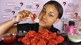 HOW I REALLY FEEL ABOUT LAYLA & ... FLAMIN HOT CHEETOS CHICKEN NUGGETS  4 SAUCES MUKBANG QUEEN BEAST