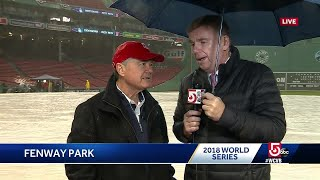 Storm interrupts warmups ahead of World Series Game 1