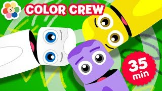 Learn Colors for Babies w Color Crew |  Coloring Pages | Learning Color Songs for Kids | BabyFirst