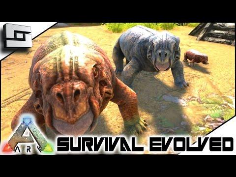 ARK: Survival Evolved - LYSTROSAURUS TAMING ANS BABIES! S3E103 ( Gameplay )