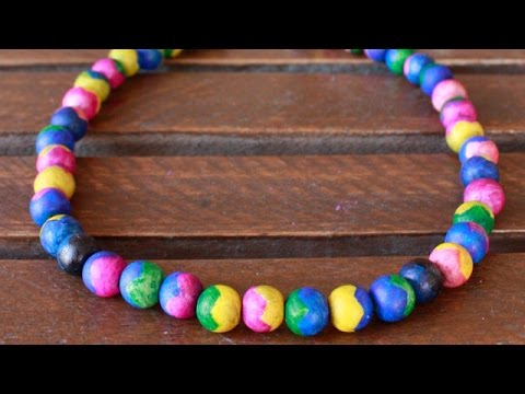 Make a Two-Toned Wooden Bead Necklace - DIY Style - Guidecentral