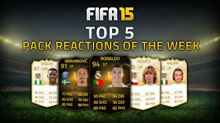 TOP 5 PACK REACTIONS OF THE WEEK  FT. INFORM RONALDO & LEGEND NEDVED! - FIFA 15 ULTIMATE TEAM