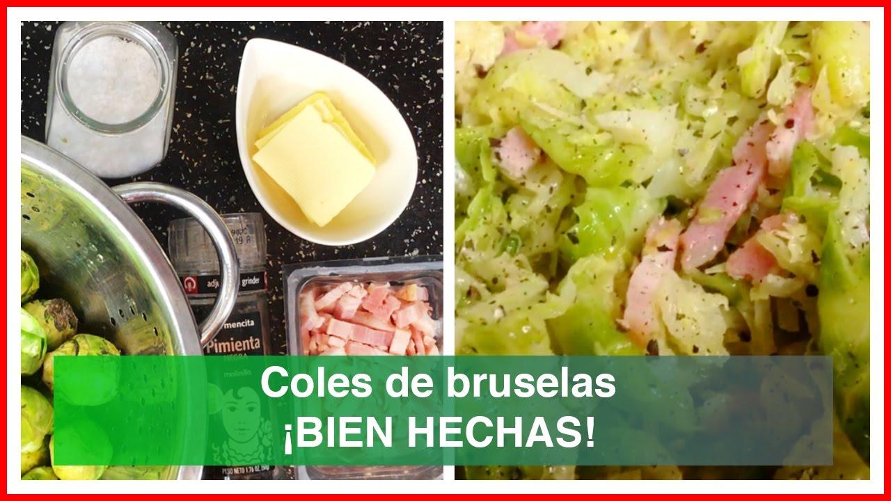 Como hacer bien las coles de bruselas youtube - Cocer coles de bruselas ...