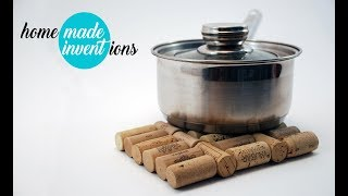 DIY cool cork under the pot from wine stopper