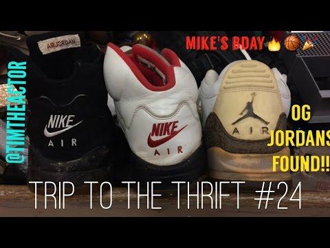 Trip to the Thrift #24 OG Jordan 5s, Mocha 3s, Jordan 11?!?