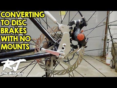 Convert Mountain Bike To Disc Brakes With No Frame/Fork Mounts