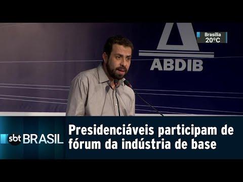Presidenciáveis participam de fórum organizado pela indústria de base | SBT Brasil (20/08/18)