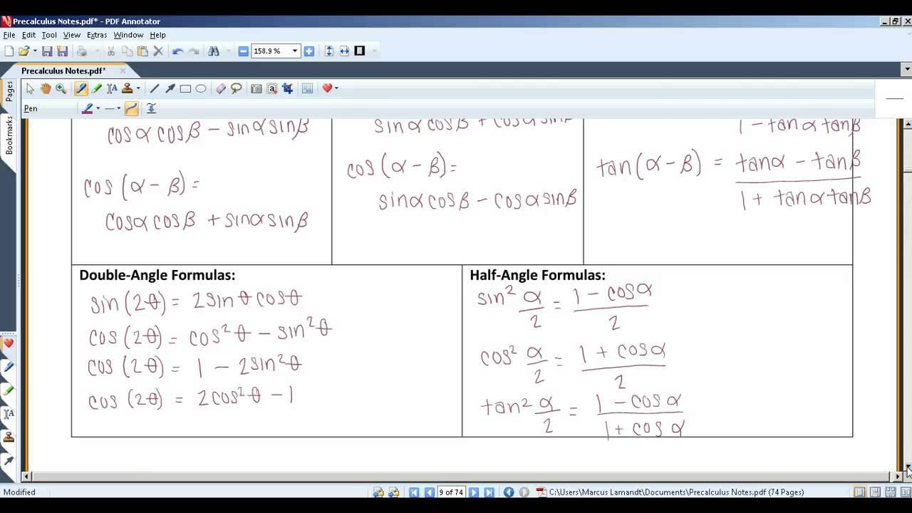7 Analytic Trigonometry