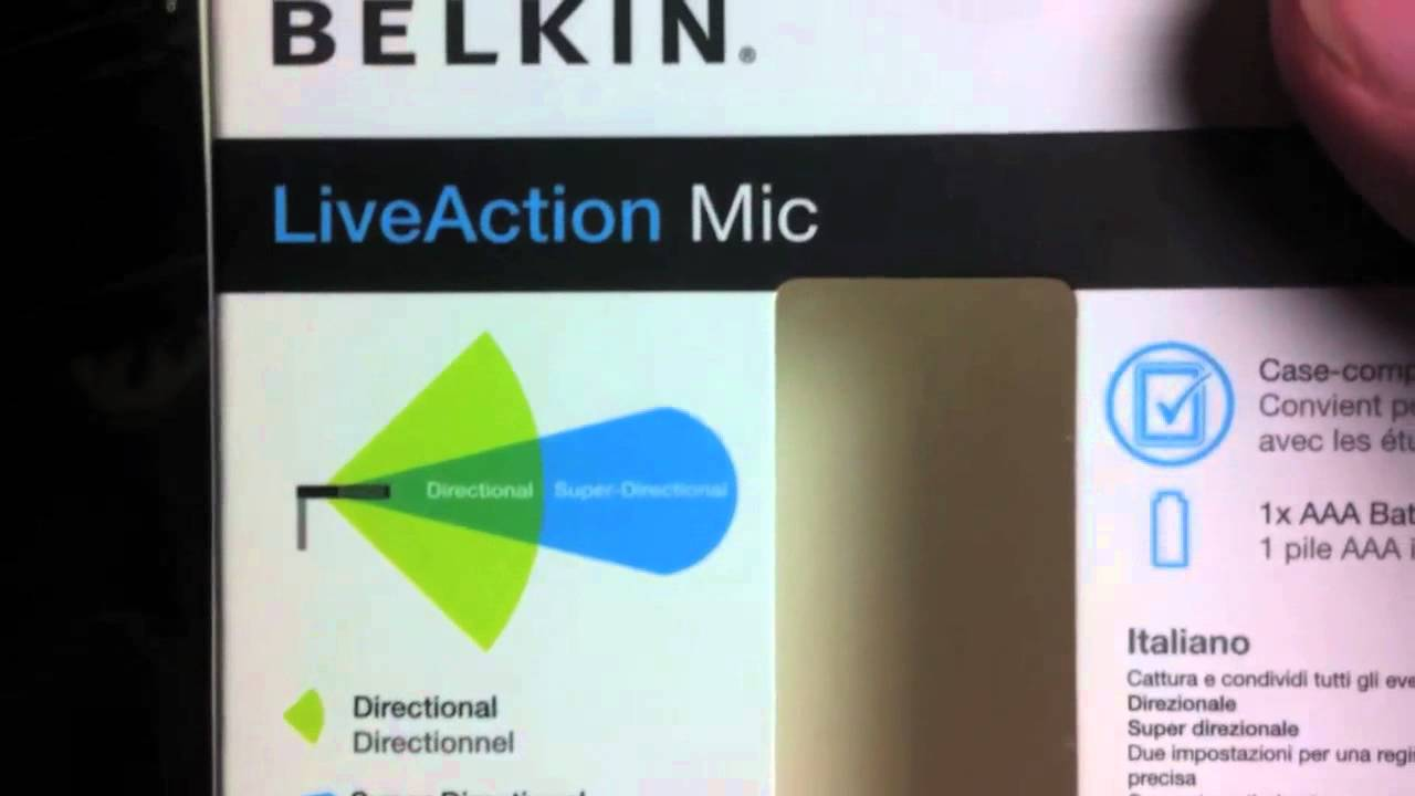 Belkin LiveAction Mic Review - YouTube
