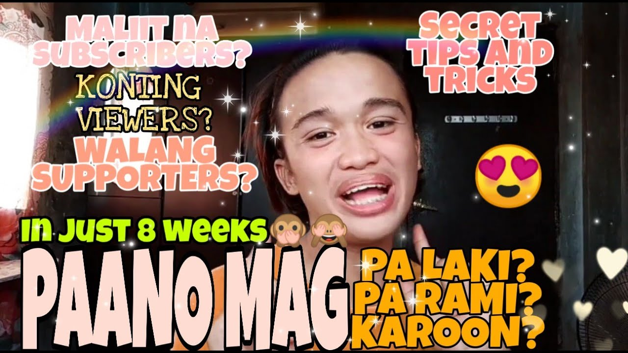 HOW TO EARN SUBSCRIBERS, SUPPORTERS AND VIEWERS🙊 | 8 WEEKS? | ZEFF NAVIDAD TIPS🙈💛💟