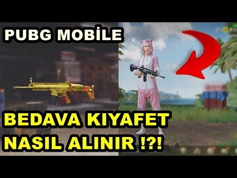 BEDAVA KIYAFET VE SİLAH SKİNİ ALMAK PUBG MOBİLE %100 GERÇEK !!!!